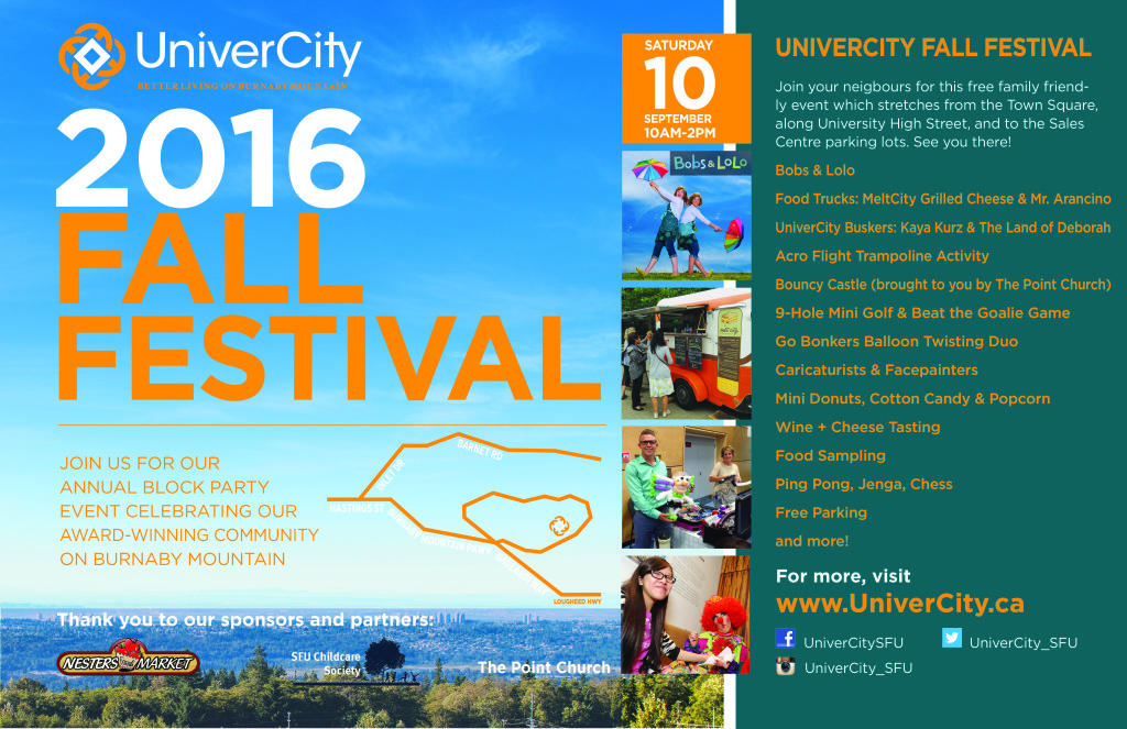 2016 Fall Fest Event Poster